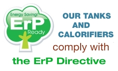 All our tanks and calorifiers comply with the ErP Directive! Click for more information